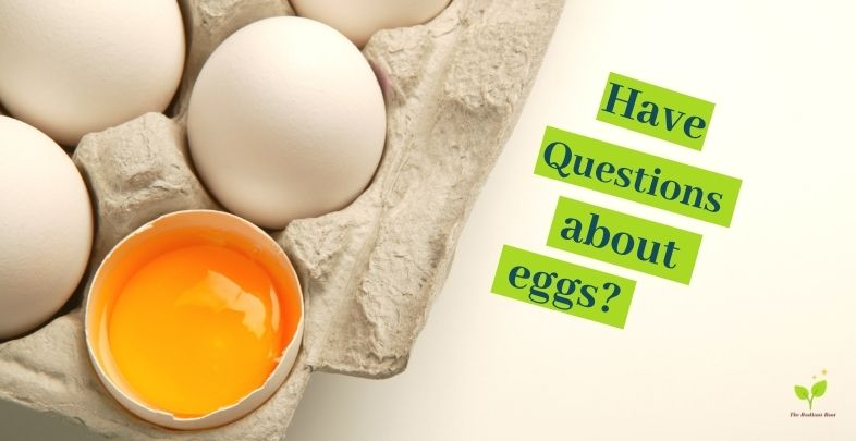 """eggs in a carton one half broken with the words """"Have questions about eggs?""""   The Best Eggs to Buy  The Radiant Root"""