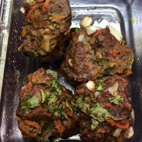 AIP Meatballs in a glass dish   The Radiant Root